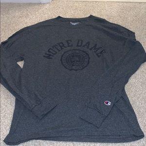 Champion Long Sleeve Notre Dame T-Shirt